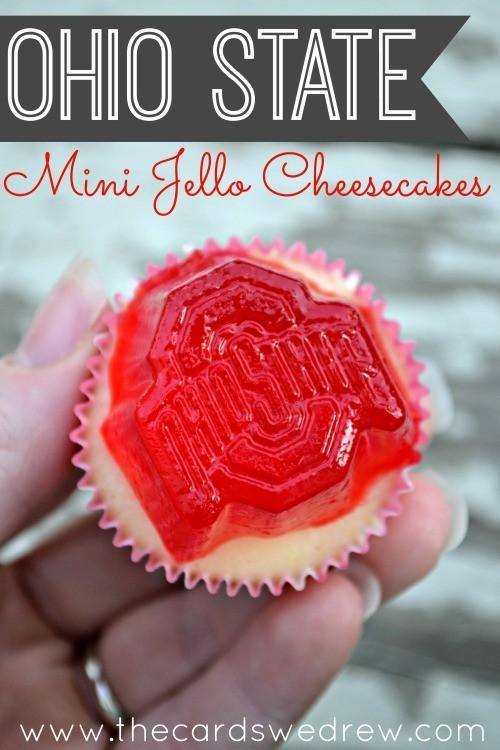 Ohio State Mini Jello Cheesecakes from The Cards We Drew #TeamJello #shop
