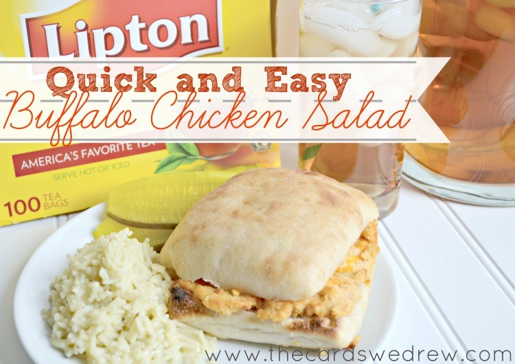 Quick and Easy Buffalo Chicken Salad #TEArifficPairs
