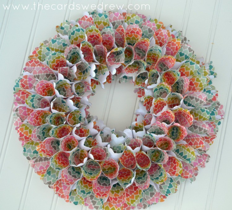 Rainbow Paper Cone Wreath