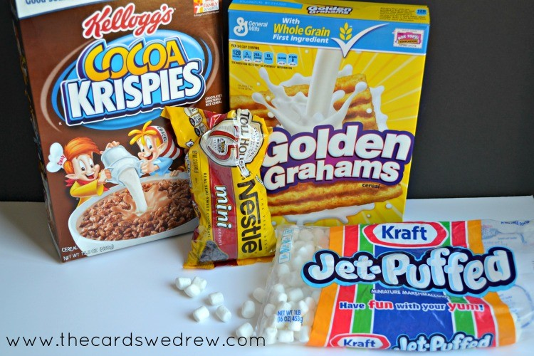 S'mores Rice Krispie Ingredients