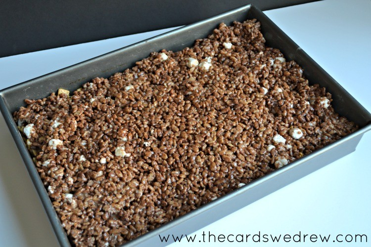 S'mores Rice Krispies in a pan