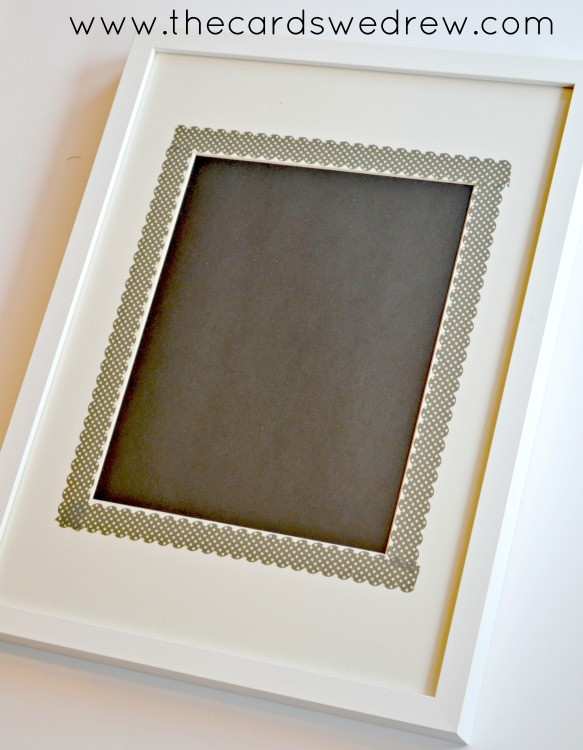 add black paper to your frame