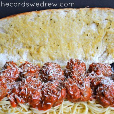 Homemade Meatball and Spaghetti Sauce Garlic Bread Subs