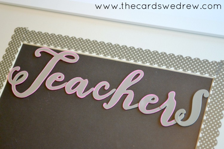 use stencils to outline letters
