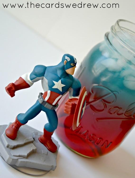 Captain America Superhero Drink