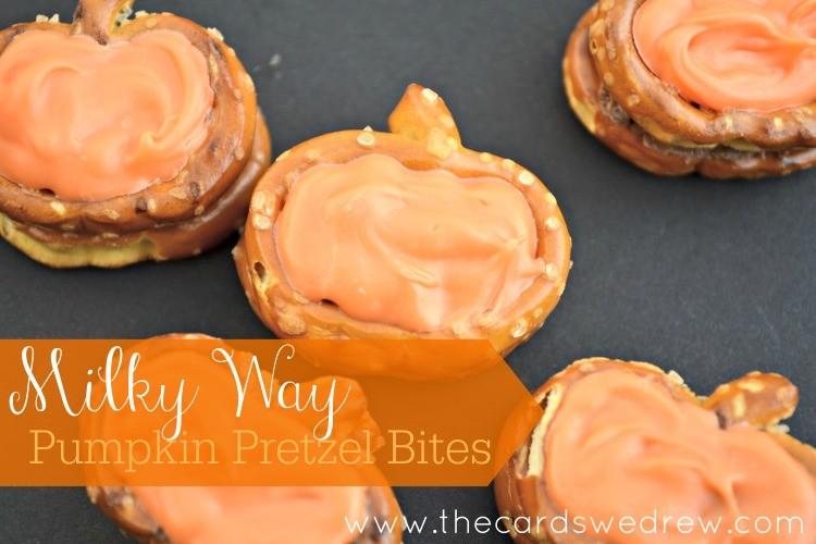 Milky Way Pumpkin Pretzel Bites from The Cards We Drew