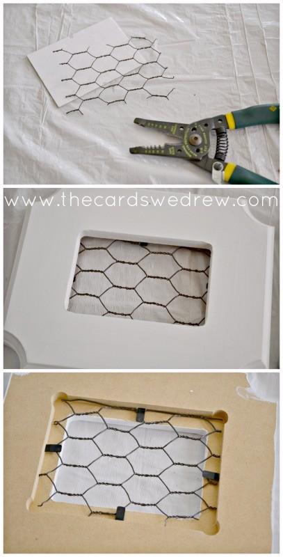 assemble chicken wire frames