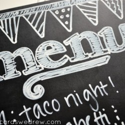 chalkboard menu idea