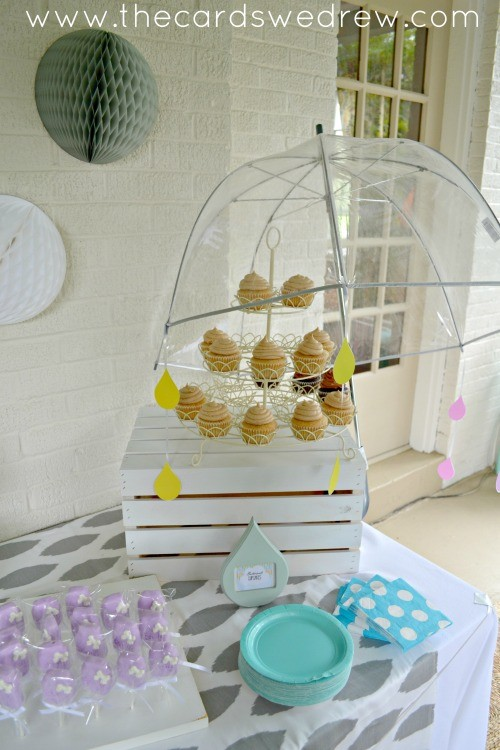 rain shower baby shower idea