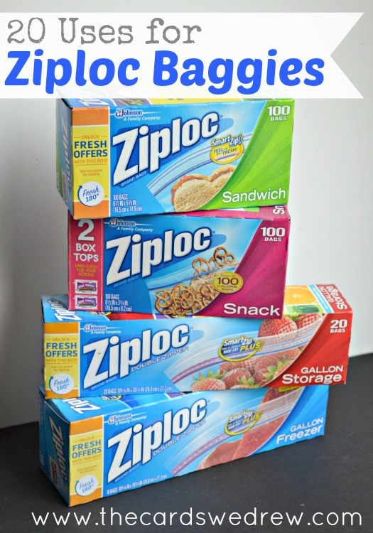 20 Uses For Ziploc Baggies From The Cards We Drew Cbias