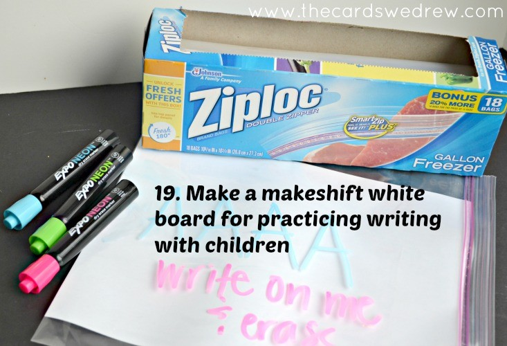 DIY Ziploc White Board