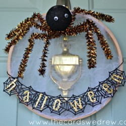 Embroidery Hoop Spider Web Wreath