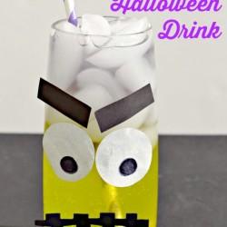 Frankenstein Layered Halloween Drink
