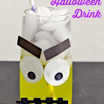 Frankenstein Layered Halloween Drink