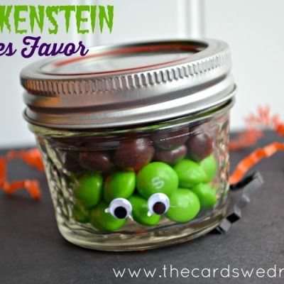 Frankenstein Skittles Favor Idea