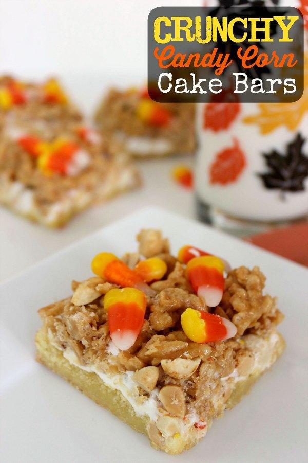 Halloween Candy Corn Cake Bars