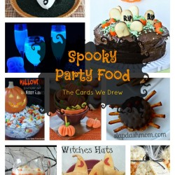 Halloween Party Food Collage
