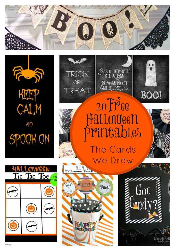 Halloween Printables Collage