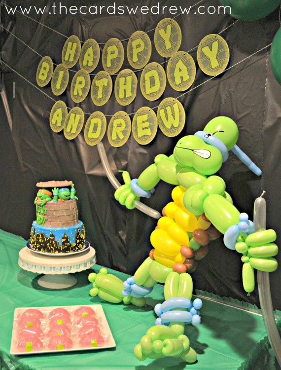 Ninja Turtle Birthday Sweets Table