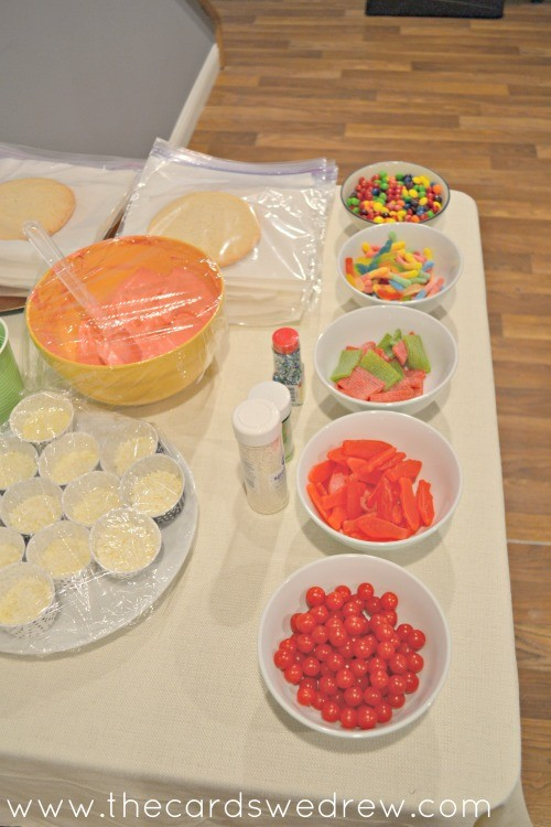 Ninja Turtle Party Activity Pizza Cookie Bar
