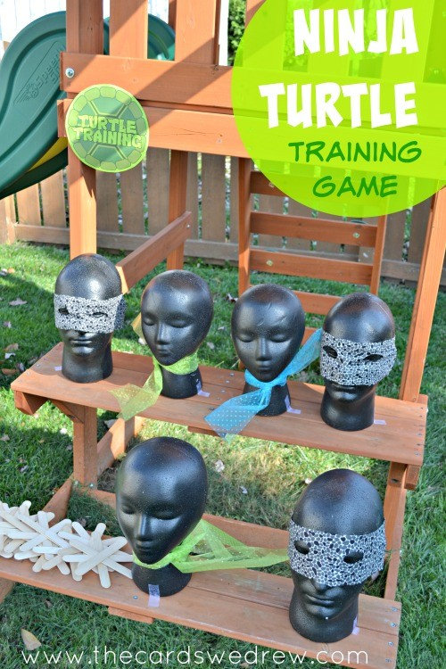 Ninja Turtle Training Game Party Idea  from The Cards We Drew