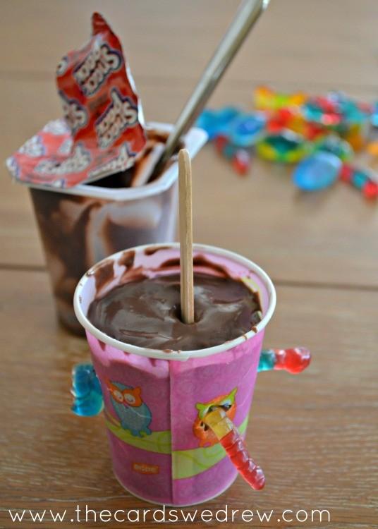 Oreo Pudding Pops unfrozen