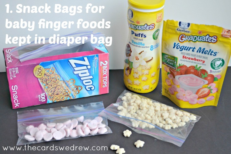 Snack Baggies for storage