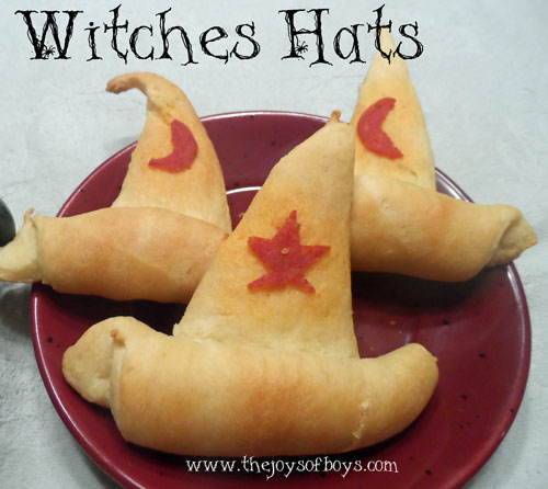 Witch Hat Crescent Rolls and Spider Chili