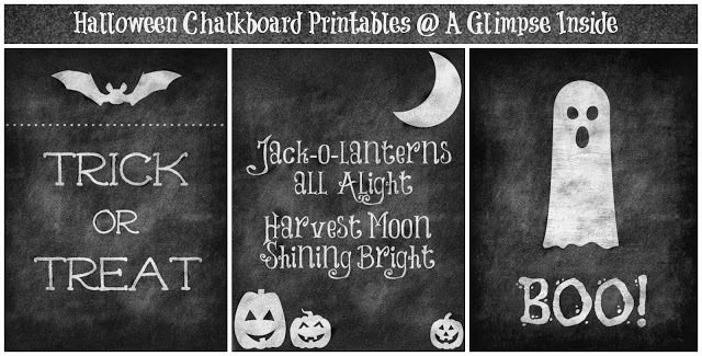 halloween chalkboard printables Collage