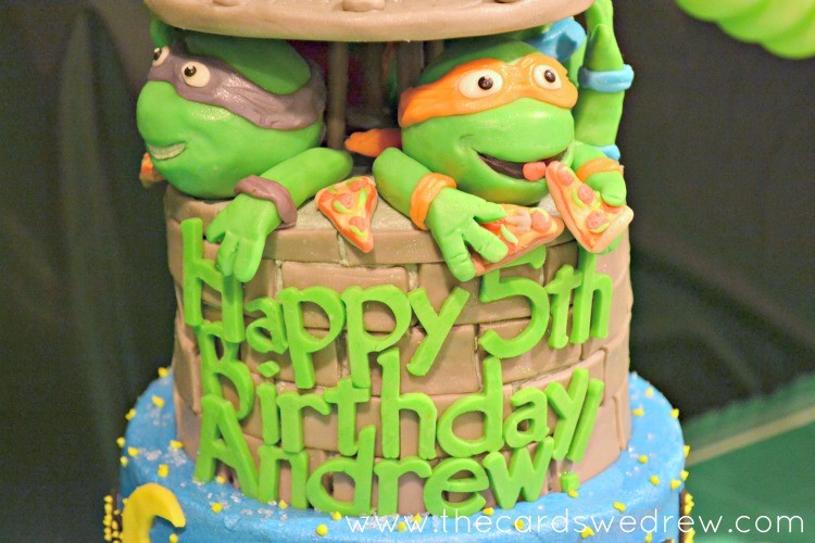 Brilliant Mutant Ninja Turtle Birthday Cake The Cards We Drew Funny Birthday Cards Online Fluifree Goldxyz