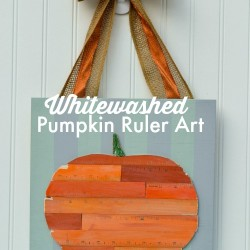 whitewashed pumpkin ruler art