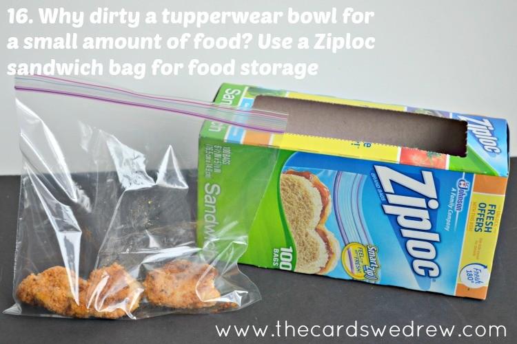 ziploc bag for food storage