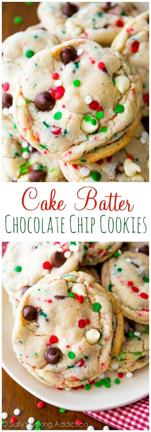 Christmas-Holiday-Cake-Batter-Cookies