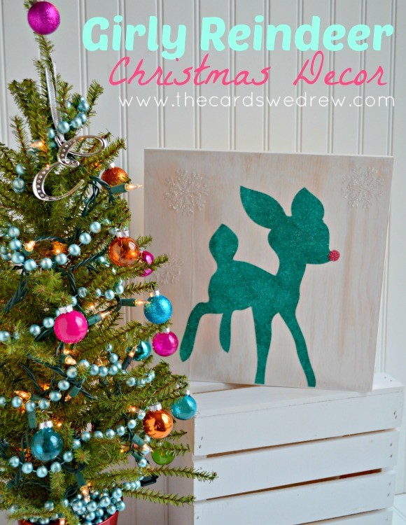 Girly Reindeer Christmas Decor