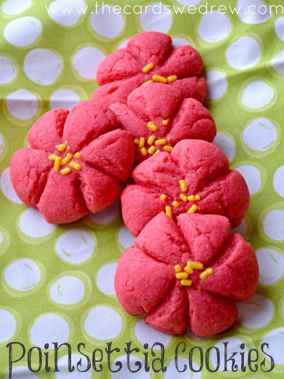Poinsettia-Cookies-from-The-Cards-We-Drew