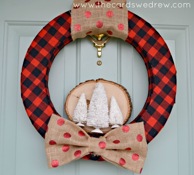 Red Plaid Rustic Holiday Wreath from The Cards We Drew