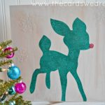 Glittery Reindeer Girl's Christmas Decor