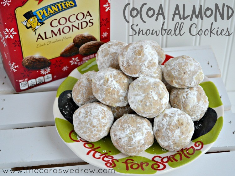 Cocoa Almond Snowball Cookies from The Cards We Drew #GoNutsforNuts