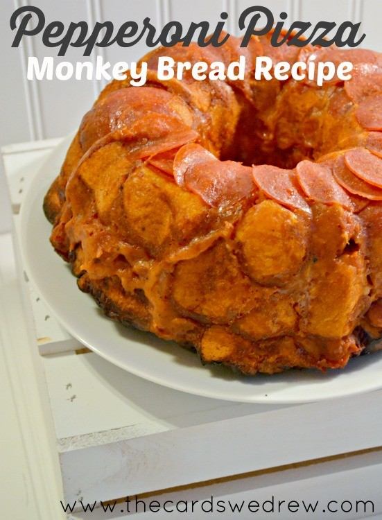Pepperoni Pizza Monkey Bread Recipe from The Cards We Drew #PepItUp