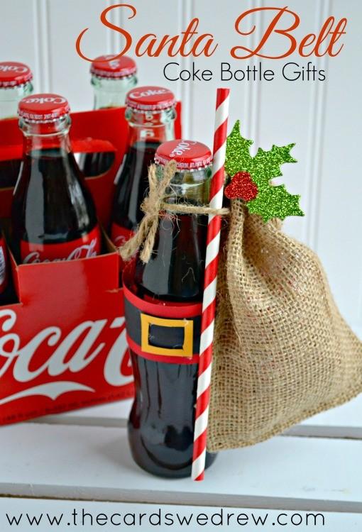 Get inspired with gift giving santa belt coke bottle for Small christmas ideas