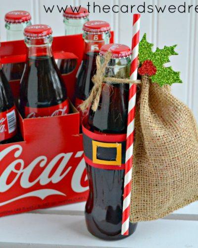 Get Inspired with Gift Giving: Santa Belt Coke Bottle Gifts