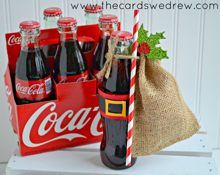 Santa Belt Coke Bottles Gift Idea