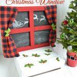 Santa Claus Christmas Window