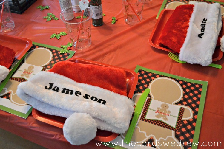 Place tags were set on each place setting so that we could label their ...