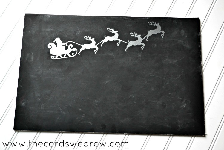 Santa Claus Christmas Window The Cards We Drew