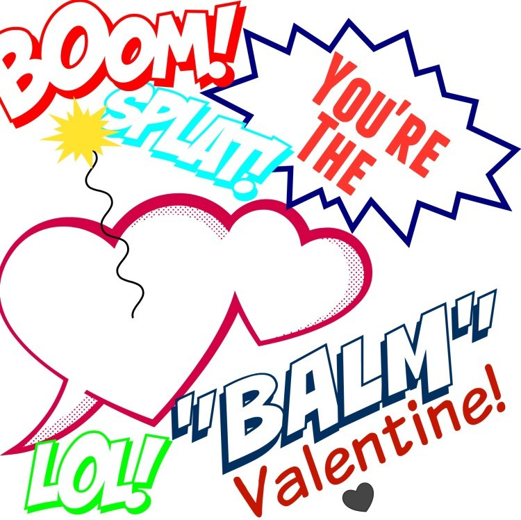 graphic relating to You're the Balm Free Printable referred to as EOS Lip Balm Valentine and Cost-free Print - The Playing cards We Drew