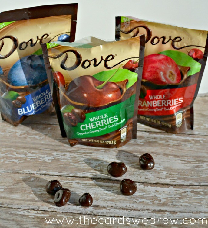 Dove chocolate covered fruit