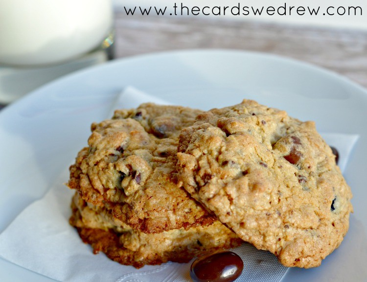 Chocolate Cherry Oatmeal Cookies - The Cards We Drew