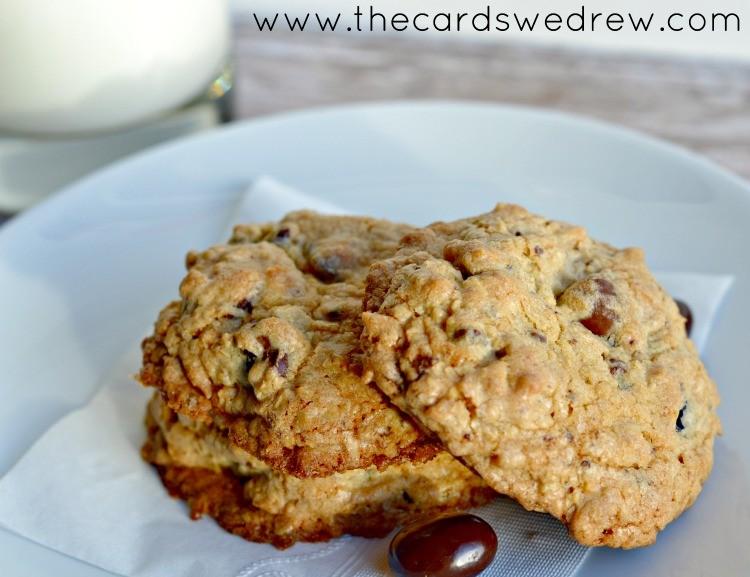 Easy Chocolate Cherry Oatmeal Cookies