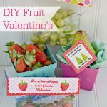 Non-Candy Fruit Valentine's with 60+ DIY Valentine Ideas